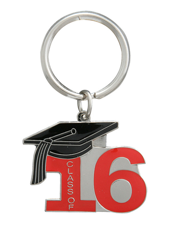 Key Ring Class of 16' Red
