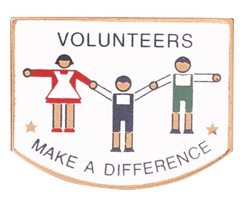 Volunteers Make a Difference Lapel Pin