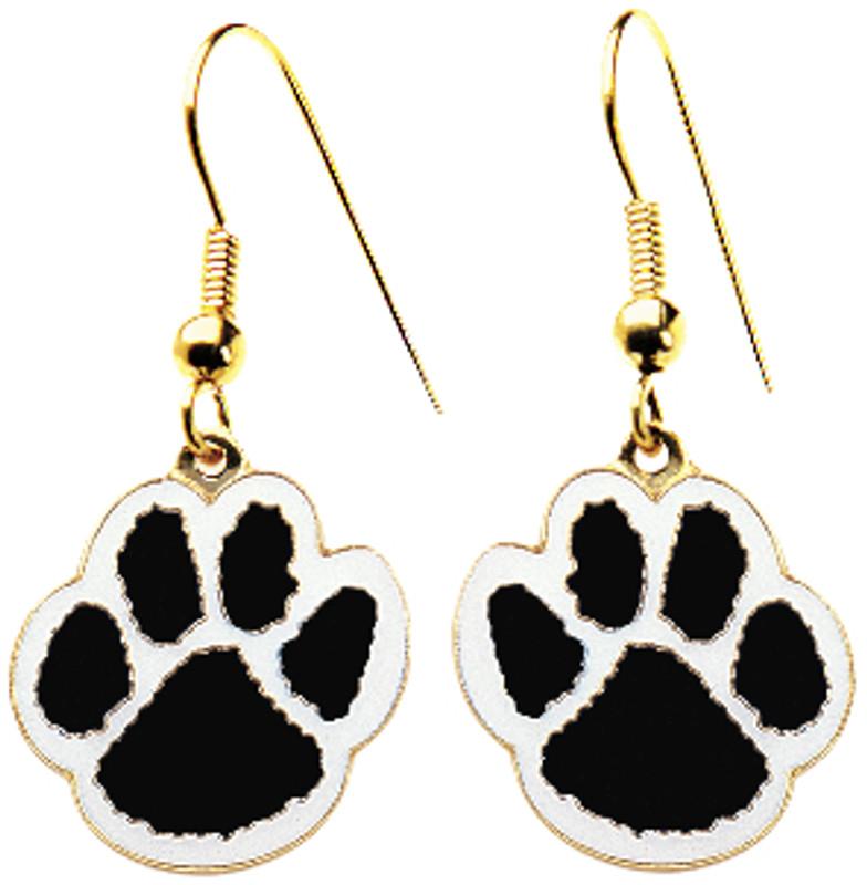 Paw Earrings Black/White