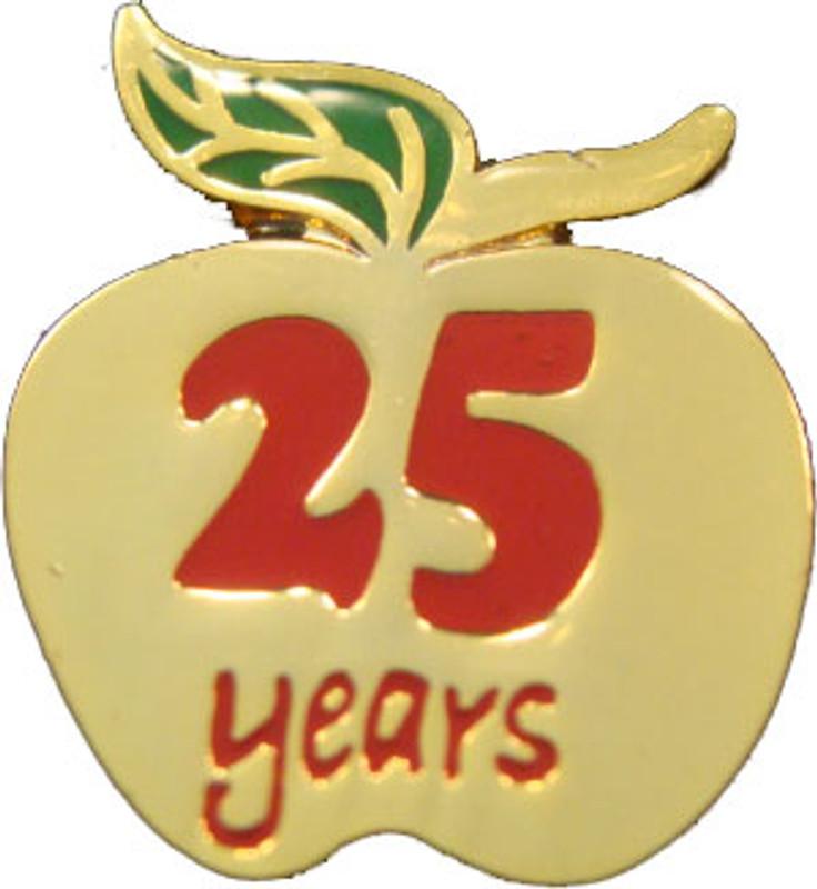YOS 25 Apple Lapel Pin