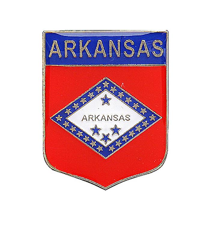 Arkansas Shield Lapel Pin