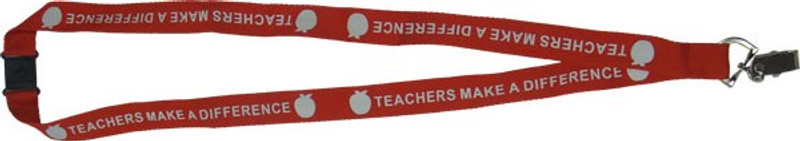 TEACHERS MAKE A DIFFERENCE LANYARD RED