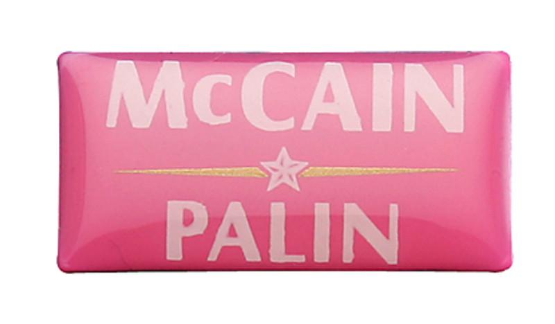 McCain Palin Pink Lapel Pin