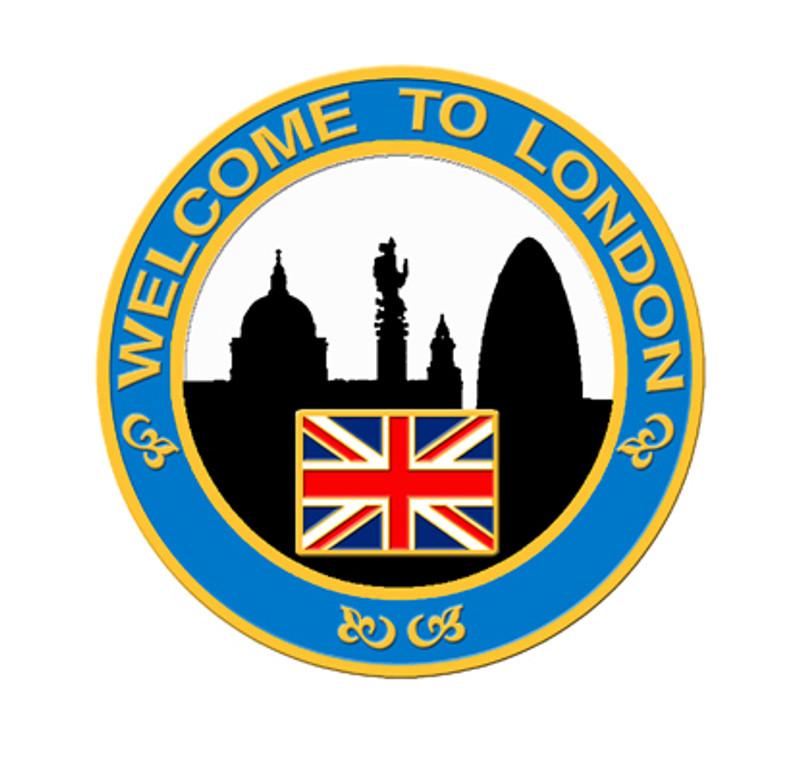 2012 London Skyline Lapel Pin - Blue