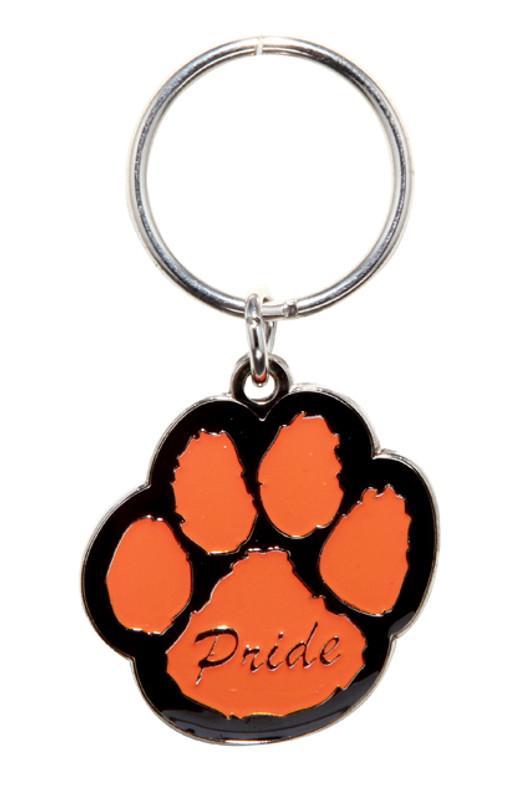 Paw Pride Key Ring (orange/black)