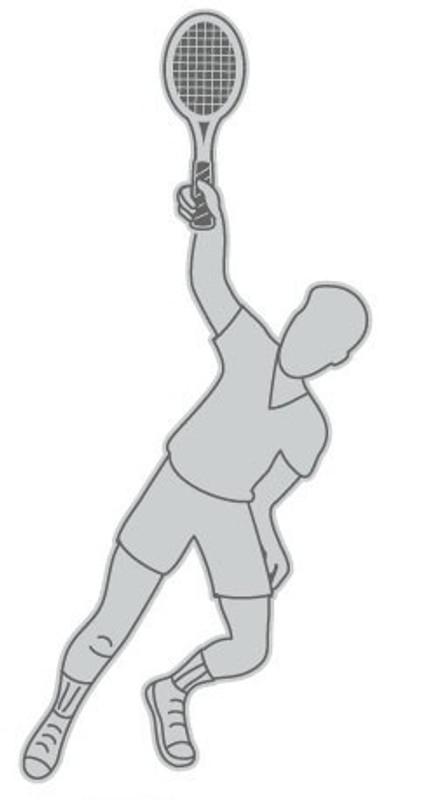 Male Tennis Silhoutte (nickel) Lapel Pin