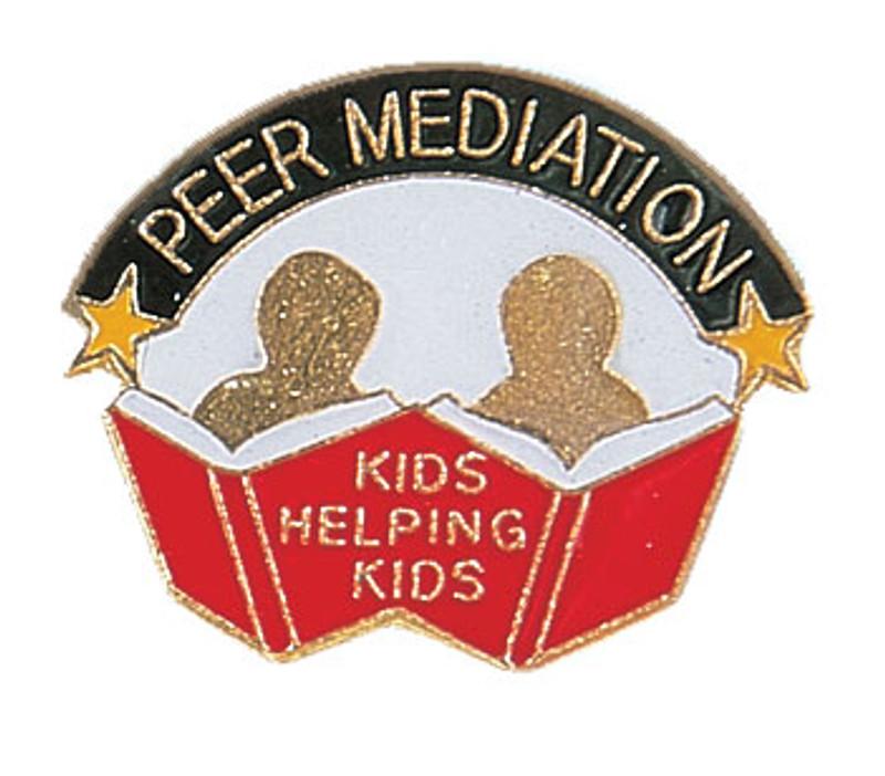 Peer Mediation Kids Helping Kids Lapel Pin