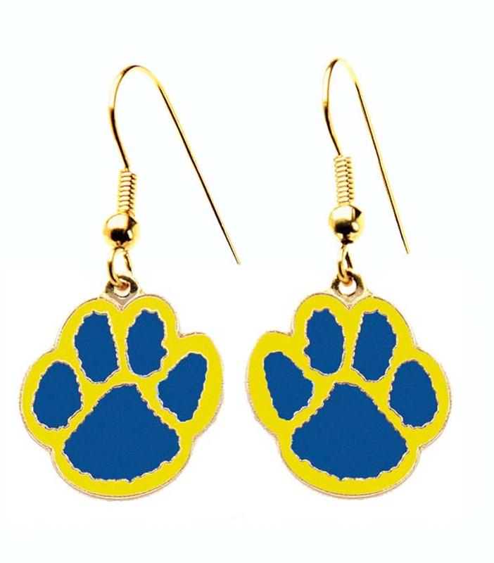 Paw Earrings Blue/yellow