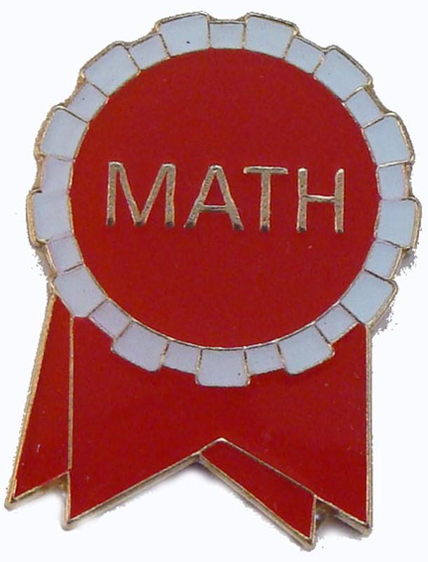 Math Ribbon (red/white) Lapel Pin