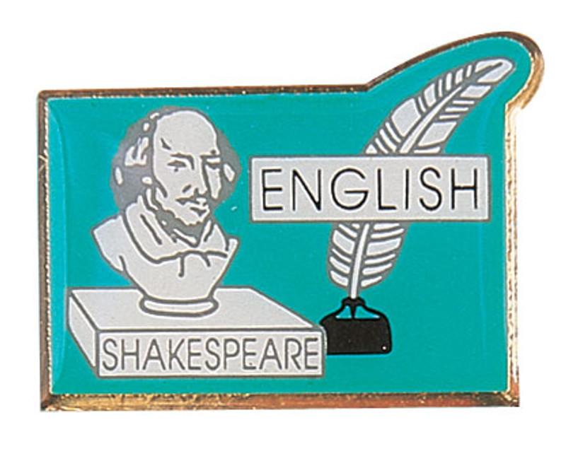 English (Shakespeare) Lapel Pin