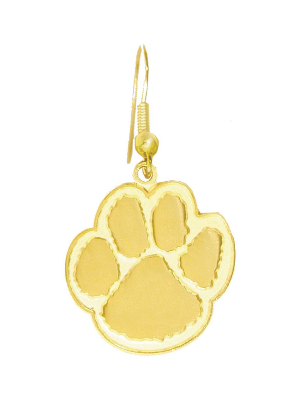 Paw Earrings Gold - Large