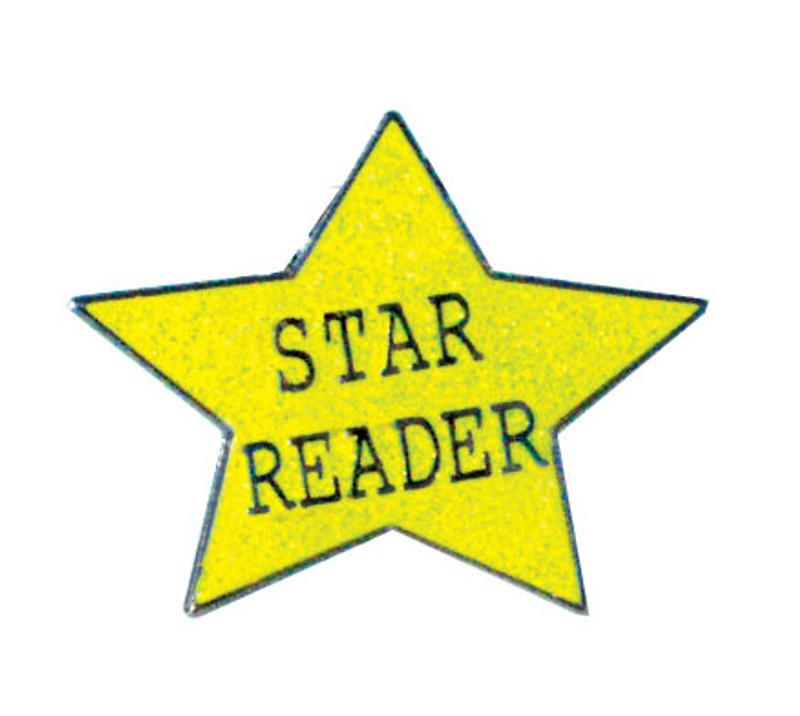 Glitter Star Reader Lapel Pin