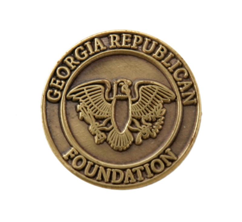 Georgia Republican Foundation (die struck) Lapel Pin
