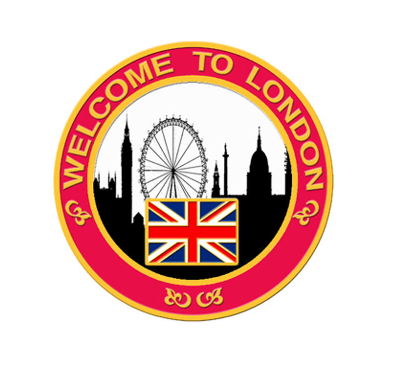 2012 London Skyline Lapel Pin - Red