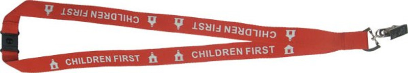 CHILDREN FIRST LANYARD - RED