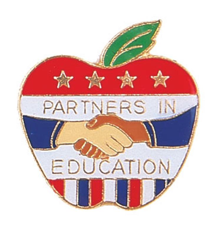 Partners In Education Lapel Pin
