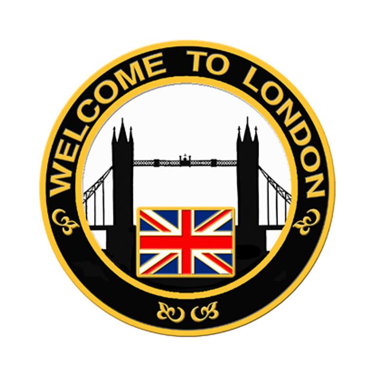 2012 London Skyline Lapel Pin - Black