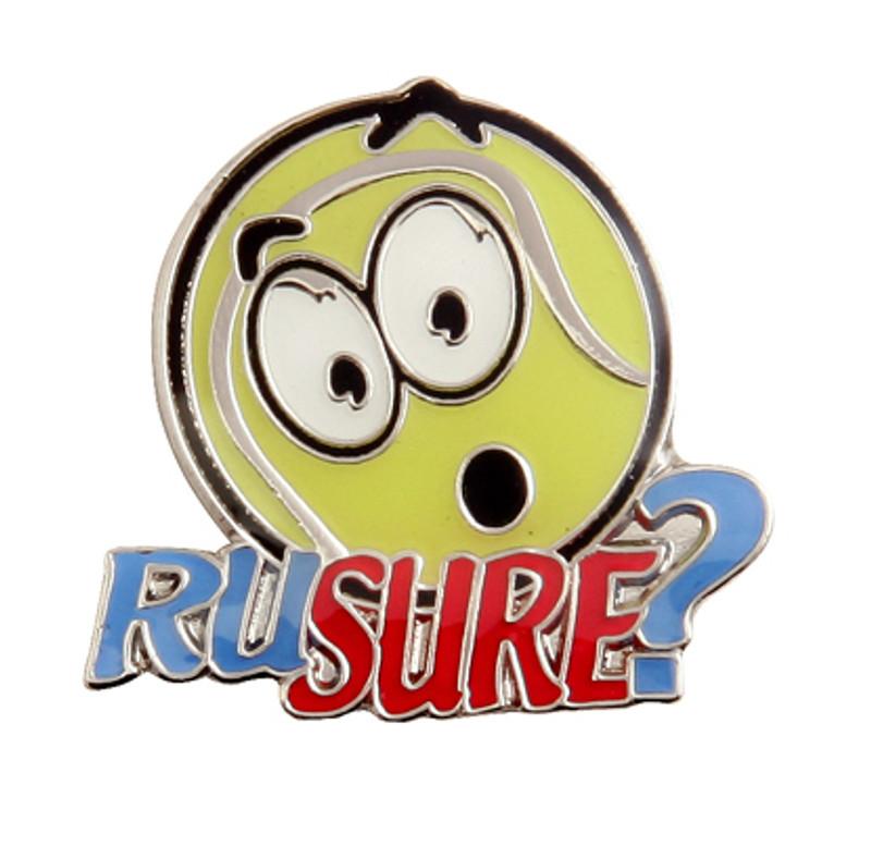 R U Sure Tennis Lapel Pin