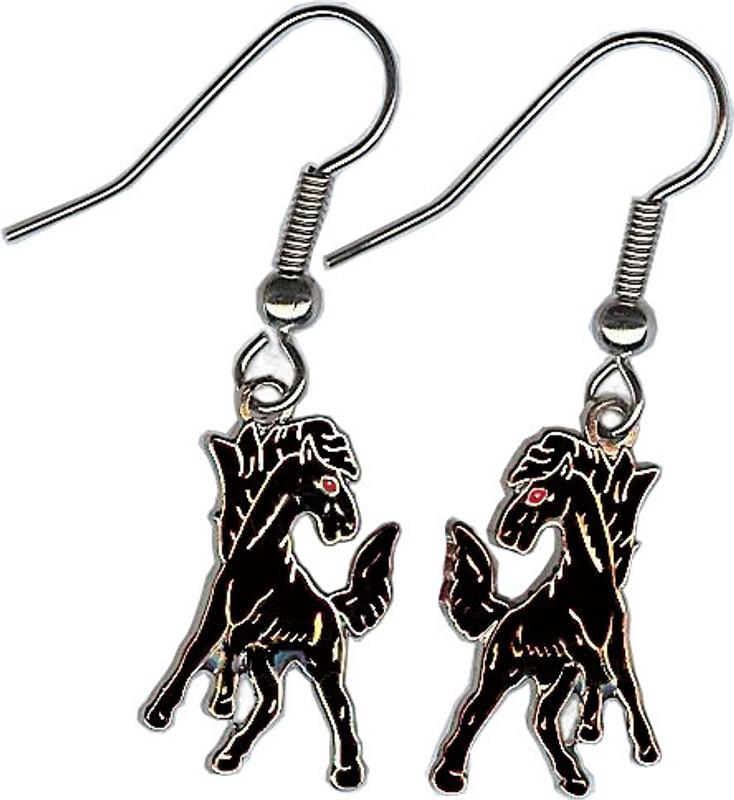 Mustang Earrings, Black