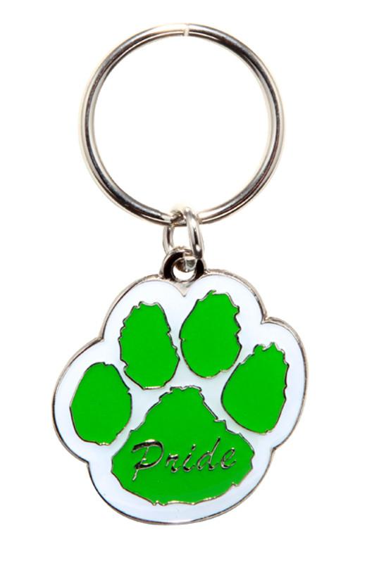 Paw Pride Key Ring (green/white)