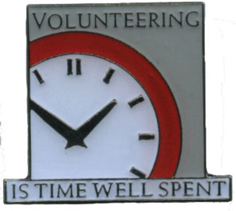 Volunteering is Time Well Spent Lapel Pin