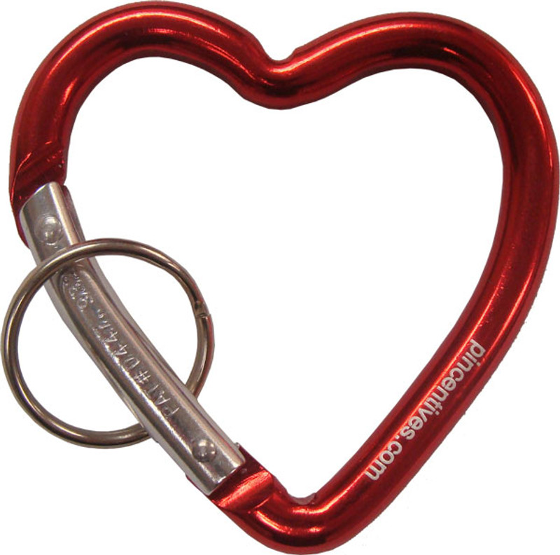 Carabiner Heart Shaped - Red