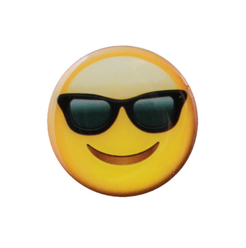 Smile with Sunglasses Emoji Lapel Pin