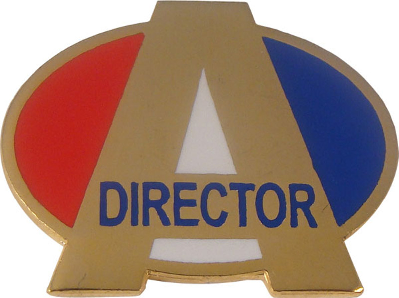 A Director (red/white/blue) Lapel Pin