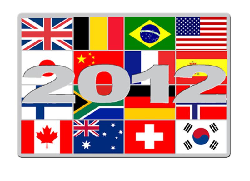 2012 London Themed Flag Montage Lapel Pin