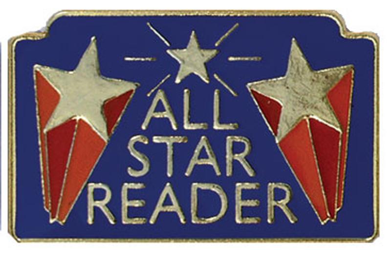 All Star Reader Lapel Pin