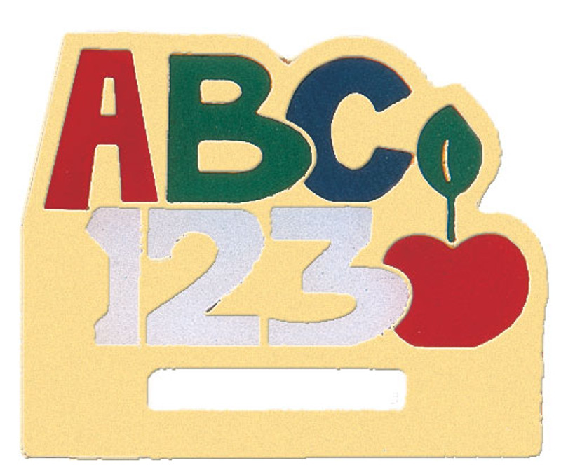 ABC/123 Badge Holder Lapel Pin