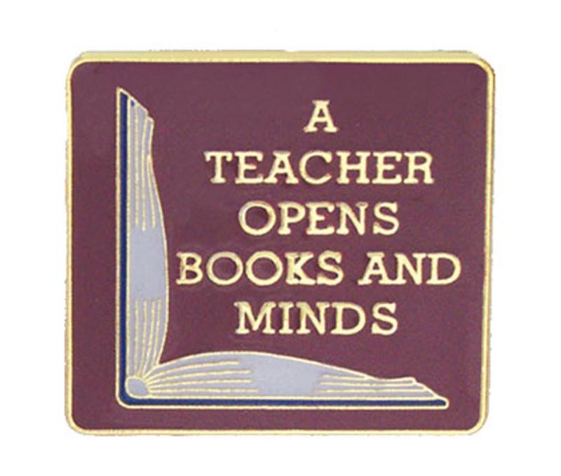 A Teacher Opens Books and Minds Lapel Pin