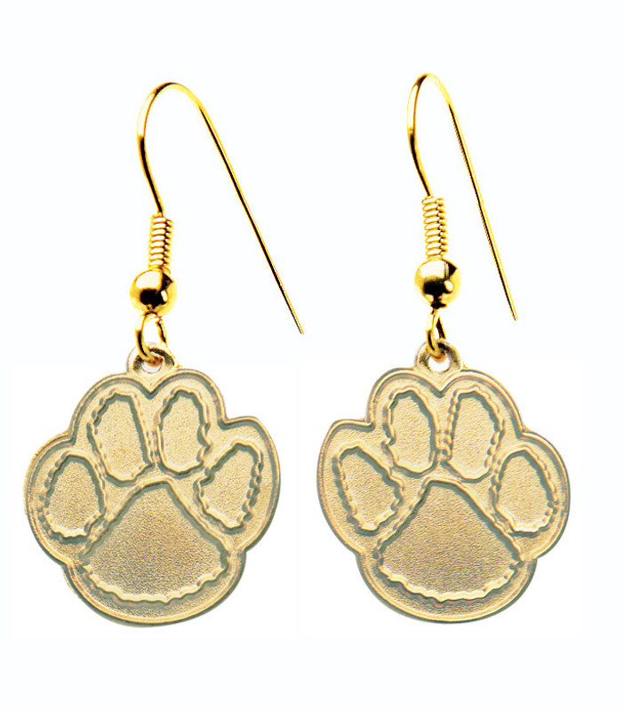 Paw Earrings Gold -Small