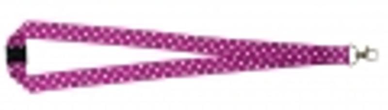 Polka Dot Print Lanyard - Purple