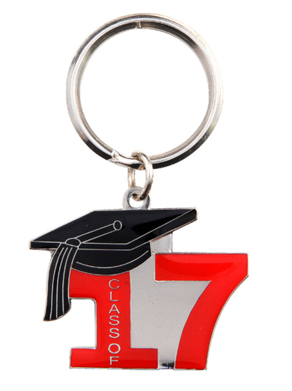 Key Ring Class of 17' Red