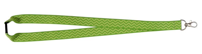 Chevron Print Lanyard - Lime Green