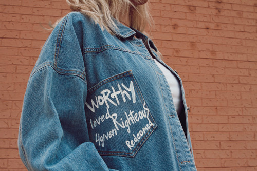WORTHY+ HAND-PAINTED DENIM JACKET
