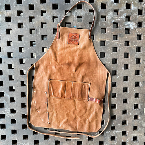 Crafted Fire Leather Apron
