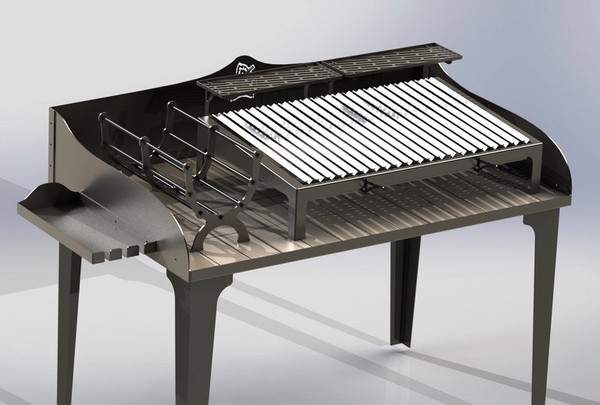 La Mesa Full Firetable Grill Kit Stainless w/ grill and brasero