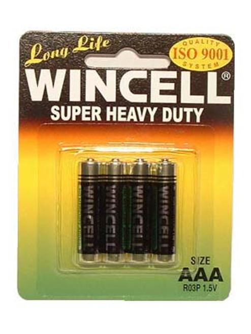 AAABP4SH-WW - Wincell AAA Super Heavy Duty Batteries