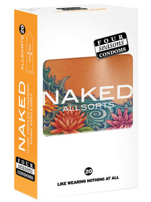FOR025-WW - Naked Allsorts Ultra Thin Lubed Condoms in 6 Styles