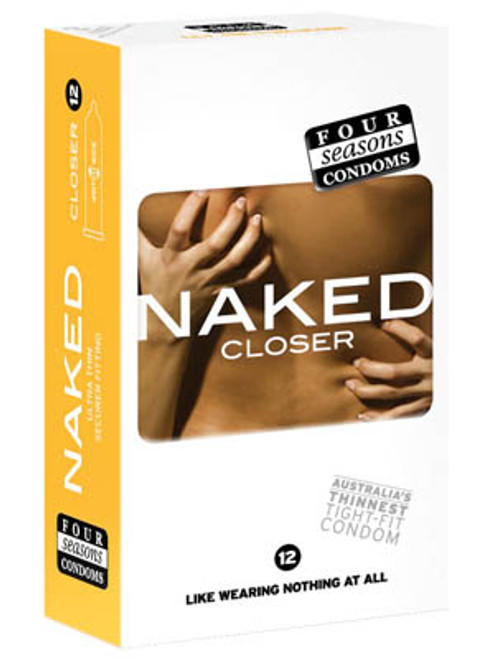 FOR026-WW - Naked Closer Ultra Thin Tighter Lubed Condoms