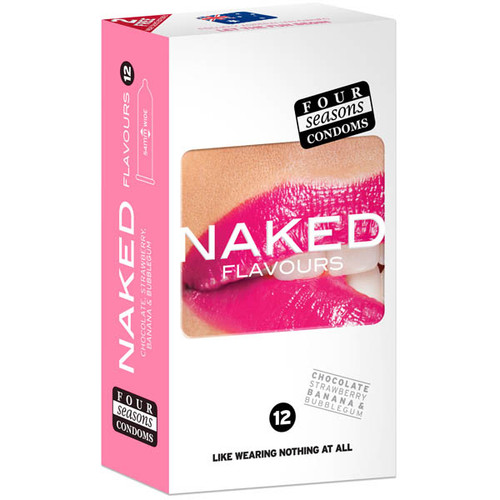 FOR119-WW - Naked Flavours Ultra Thin Flavoured Condoms 12 Pack