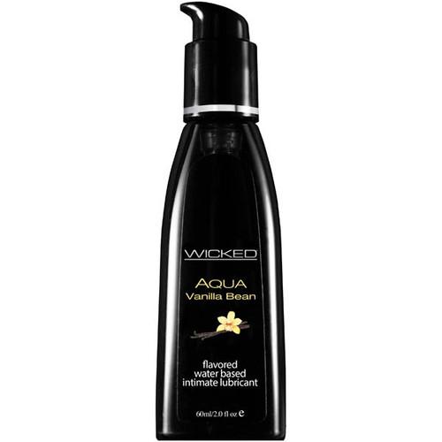 90332-WW - Wicked Aqua Vanilla Bean Flavoured Water Based Lubricant