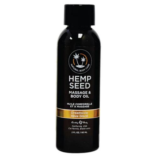 MAS206-WW - Hemp Seed Massage Oil - Dreamsicle 59ml