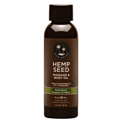 MAS268-WW - Hemp Seed Massage Oil - Guavalava 59ml