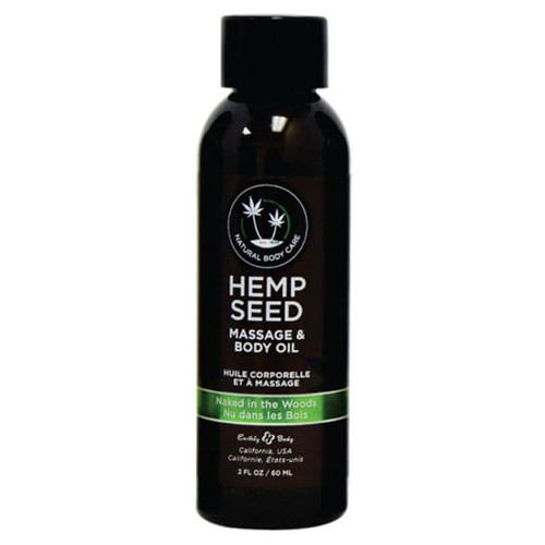 MAS222-WW - Hemp Seed Massage Oil - Naked in the Woods 59ml