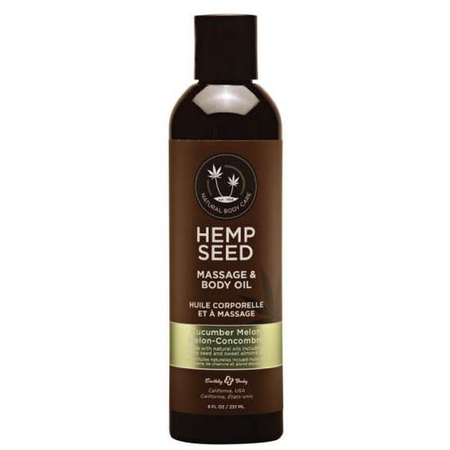 MAS010-WW - Hemp Seed Massage Oil - Cucumber Melon 237ml