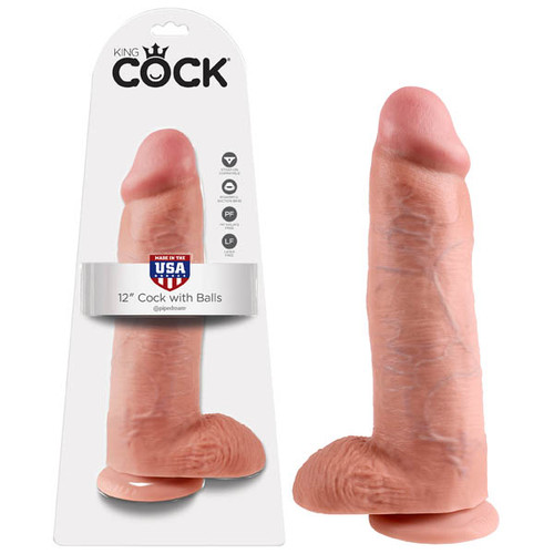 PD5511-21-WW - King Cock 12'' Cock With Balls