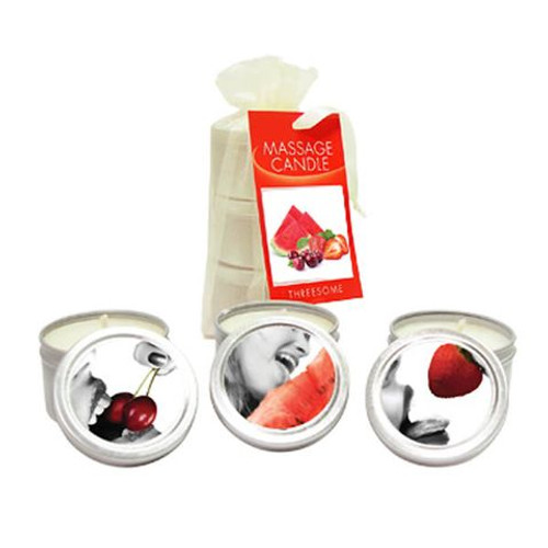 HSCK200-WW - Edible Massage Candle Threesome